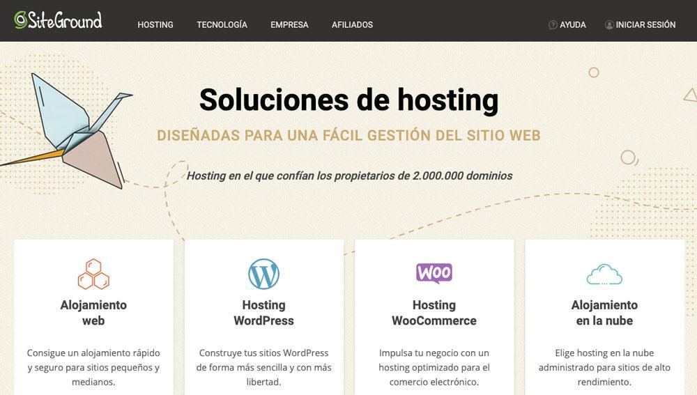 Web de SiteGround
