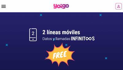 Yoigo ahora regala una segunda línea ilimitada totalmente gratis