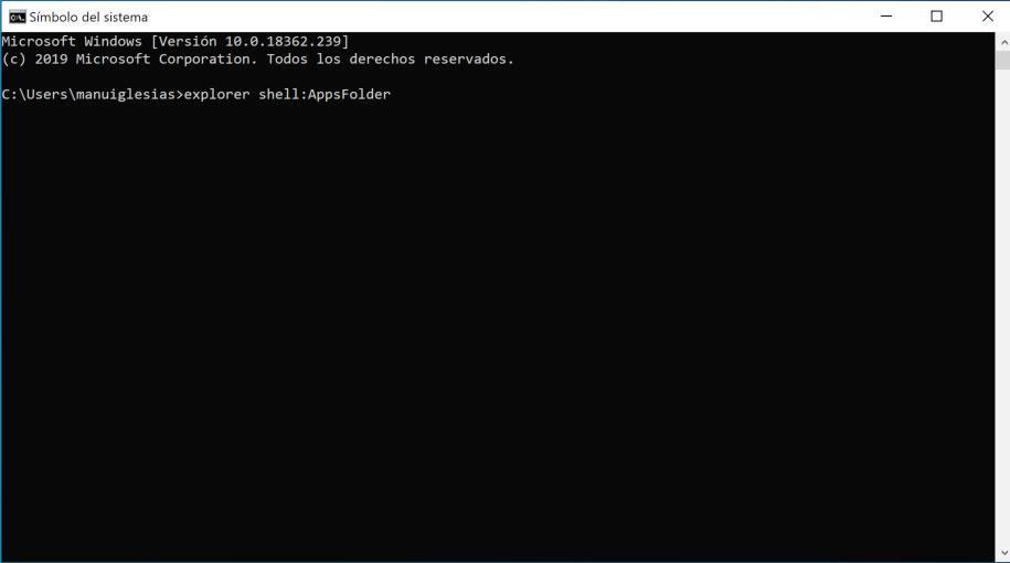 Abrir carpeta de programas instalados en Windows 10 desde la Store