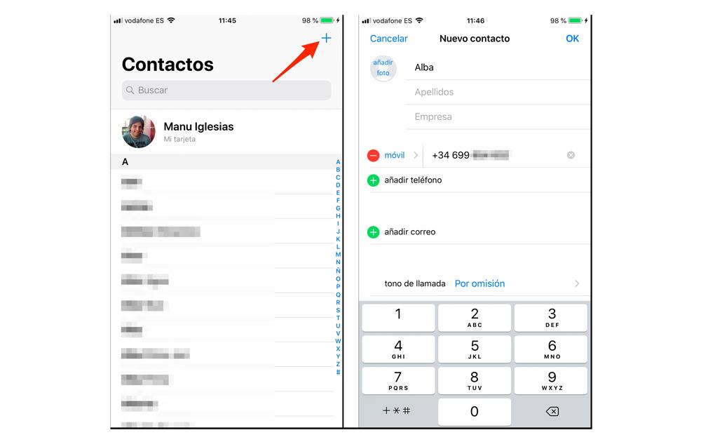 Añadir contactos a WhatsApp