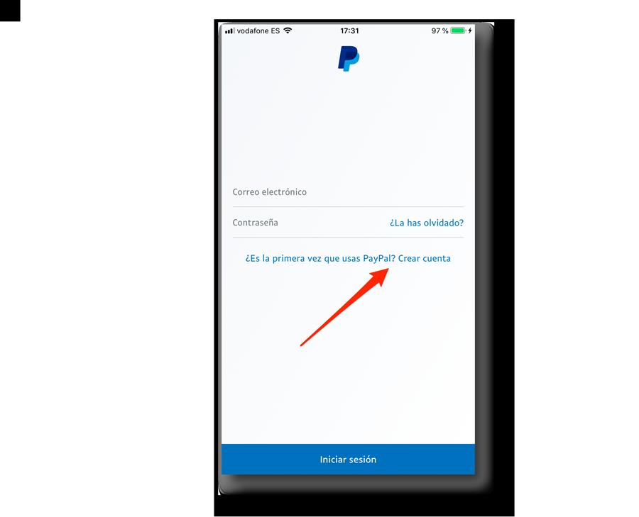 Pasos para crear una cuenta de PayPal desde el móvil