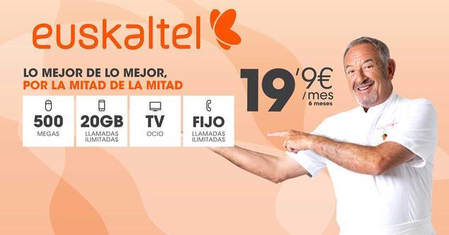euskaltel fibra 19,90 euros
