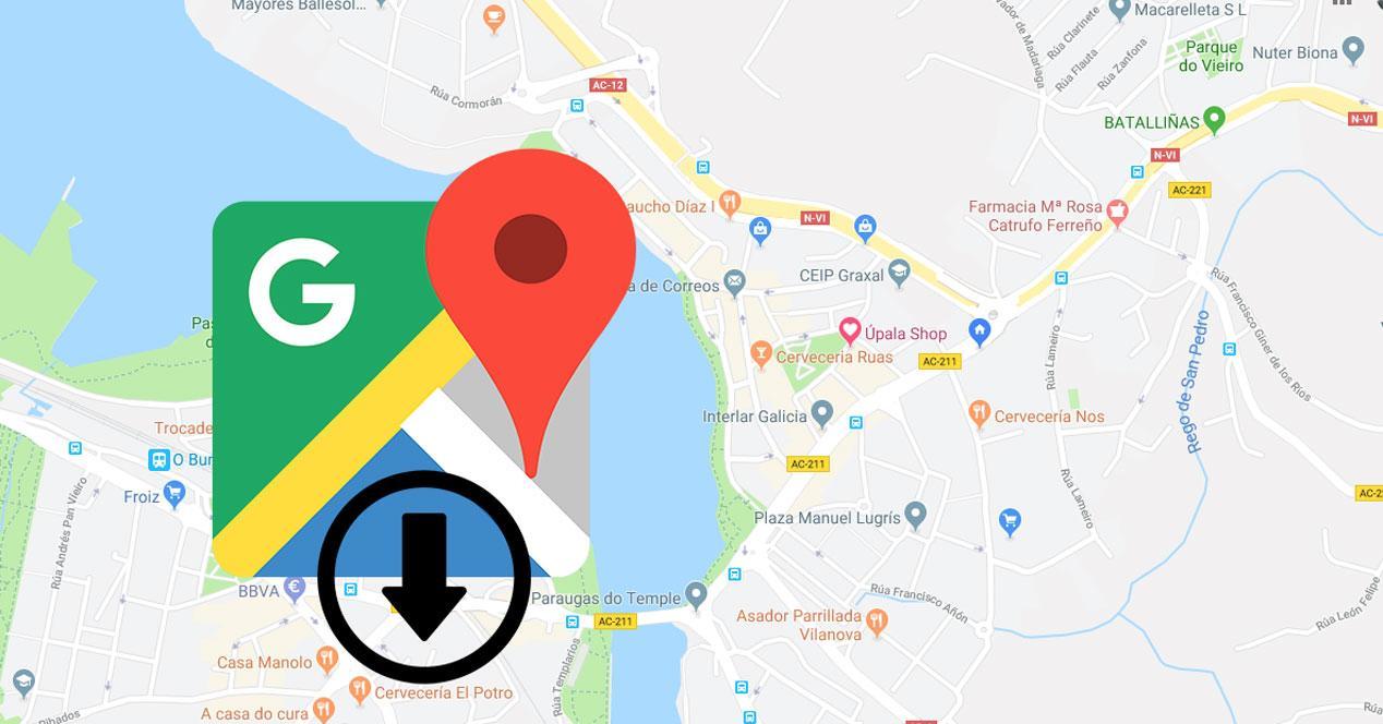Exportar mapa de Google Maps