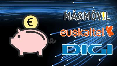 Euskaltel vs MásMóvil vs Digi: así está la guerra de ofertas de fibra baratas