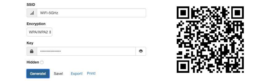 Generar código QR para acceder a una red WiFi