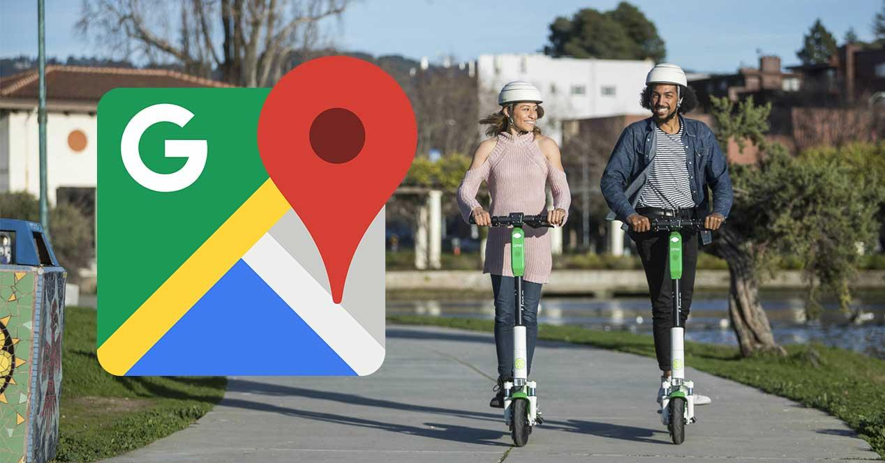 google maps patinete electrico lime
