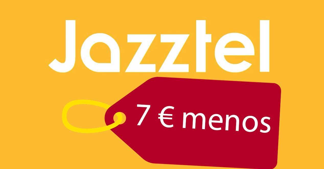 jazztel fibra 7 euros menos rebaja