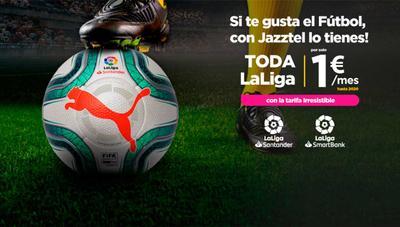 Jazztel detalla todos los precios de sus ofertas con fútbol incluyendo LaLiga y Champions