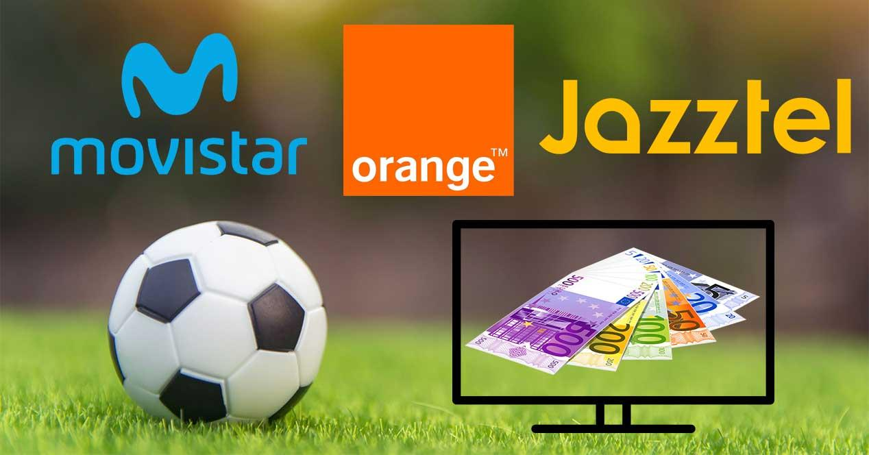 movistar jazztel orange ver futbol