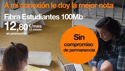 Orange se apunta a la fibra para estudiantes por 30,95 euros al mes