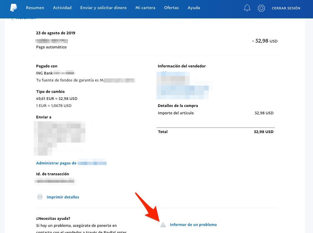 Protección comprador PayPal