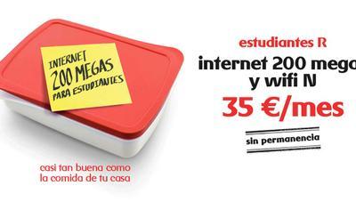 R lanza una oferta de fibra para estudiantes desde 35 euros y con suspensión en verano