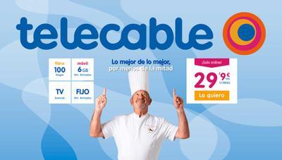 Telecable lanza una tarifa a lo Euskaltel: fibra, móvil y TV por 25 euros al mes