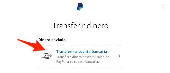 Transferir dinero a cuenta bancaria