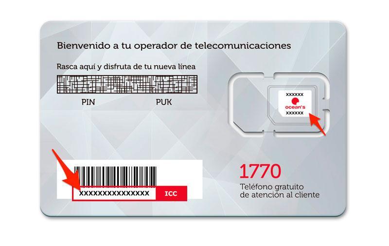 Ver el ICC de una tarjeta SIM