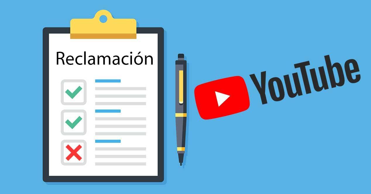 youtube reclamacion