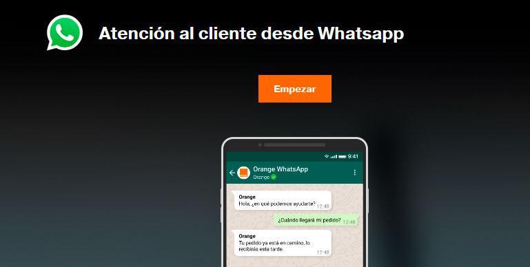 Atención al cliente a través de WhatsApp