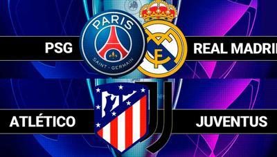 Cómo ver PSG – Real Madrid y Atlético de Madrid – Juventus de Champions por televisión o Internet