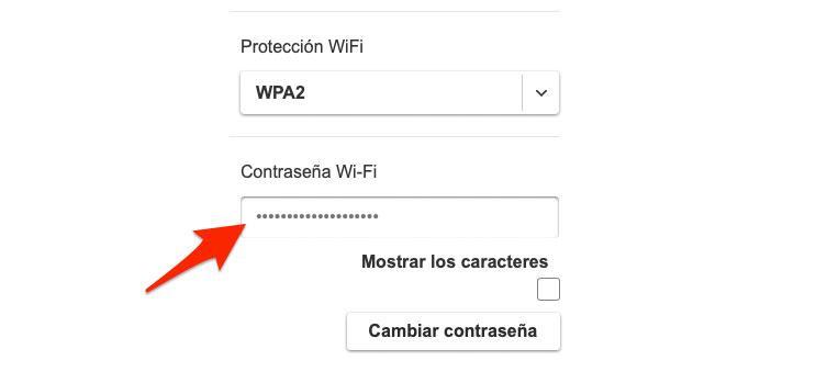 Establece una contraseña WiFi segura