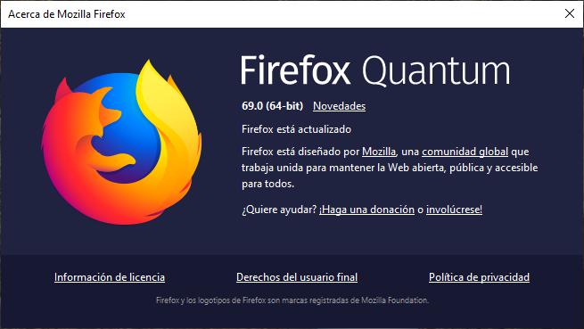 Mozilla Firefox 69 Ya Disponible: Cambios Y Novedades