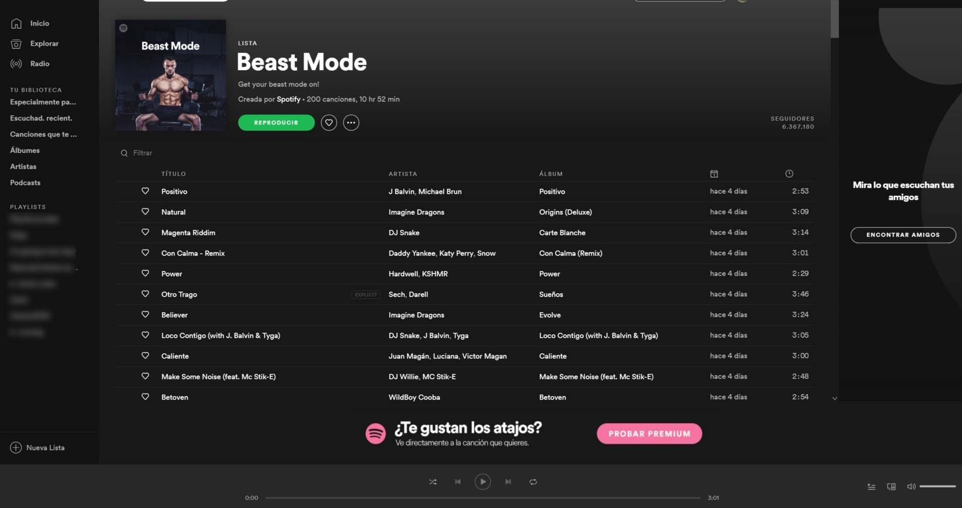 lista de musica para correr
