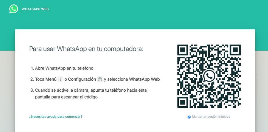 Iniciar sesión en WhatsApp Web