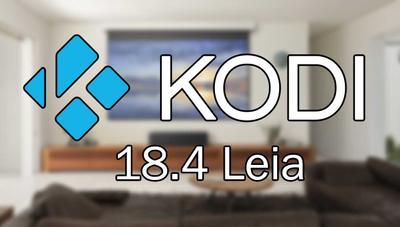 Kodi 18.4 Leia ya disponible para descargar: decenas de correcciones y mejoras