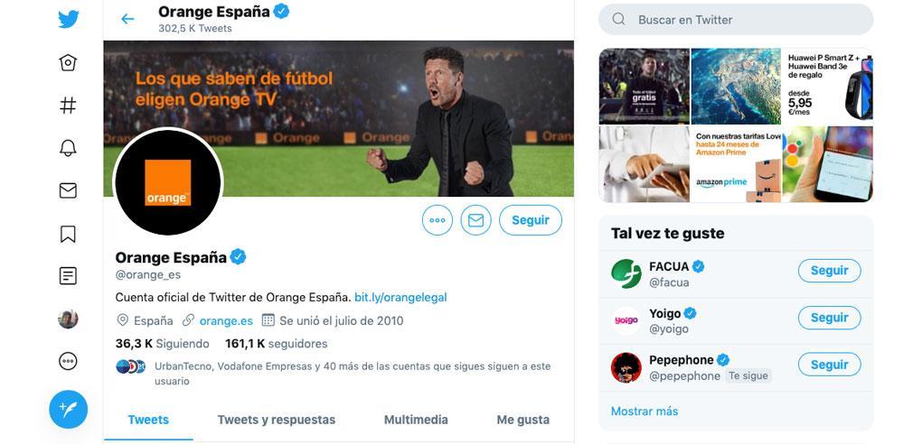 Twitter de Orange