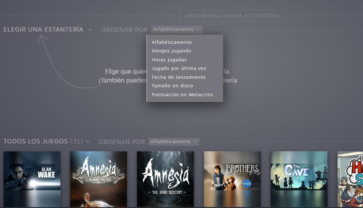 Steam biblioteca de juegos