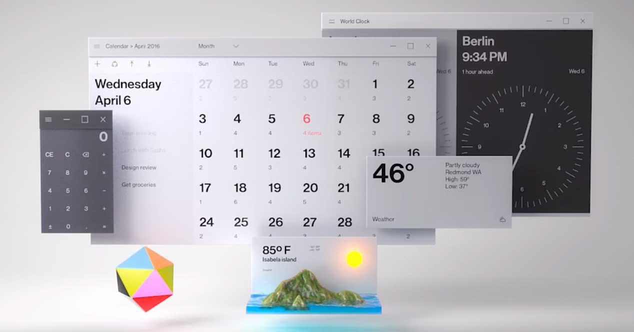 windows 10 calendario