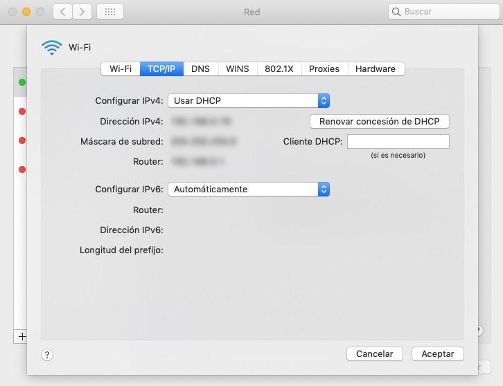 Encontrar la IP en Mac