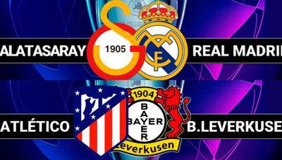 Cómo ver Galatasaray – Real Madrid y Atlético de Madrid – Bayer Leverkusen por televisión o Internet