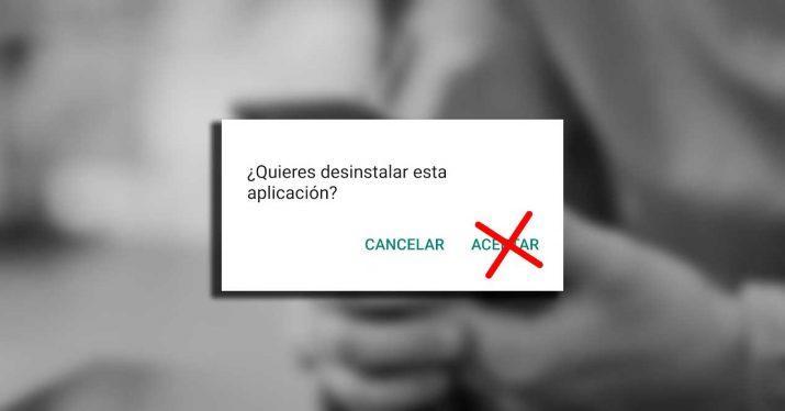 desinstalar aplicacion android