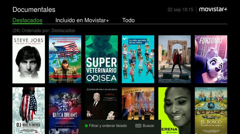 Documentales Movistar