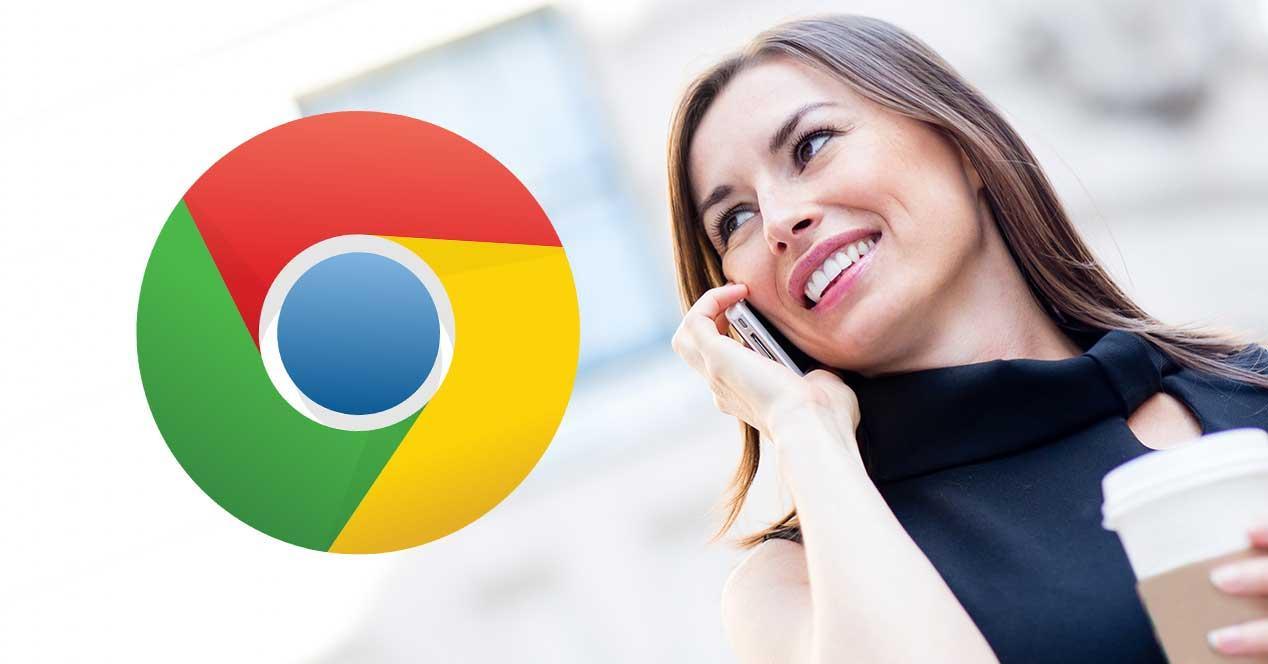 google chorme llamada android