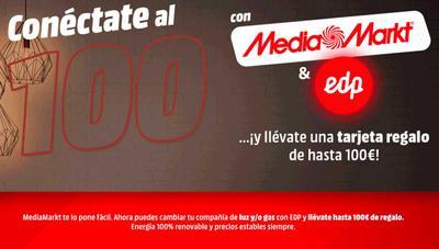 MediaMarkt venderá luz y gas de EDP con descuento y hasta 100 euros de regalo