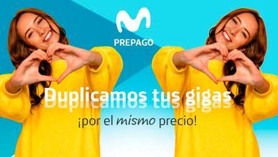 ¡Hasta 30GB! Movistar duplica gratis los gigas de sus tarifas prepago