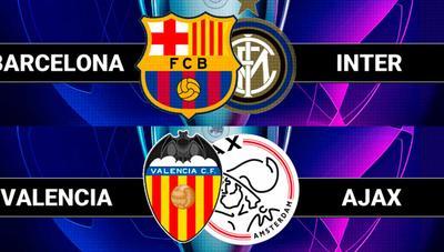 Ver Barcelona – Inter y Valencia – Ajax de Champions por televisión o Internet