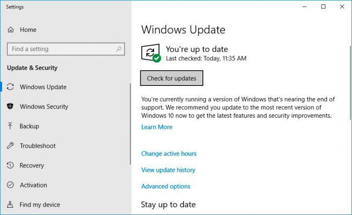 windows 10 fin soporte