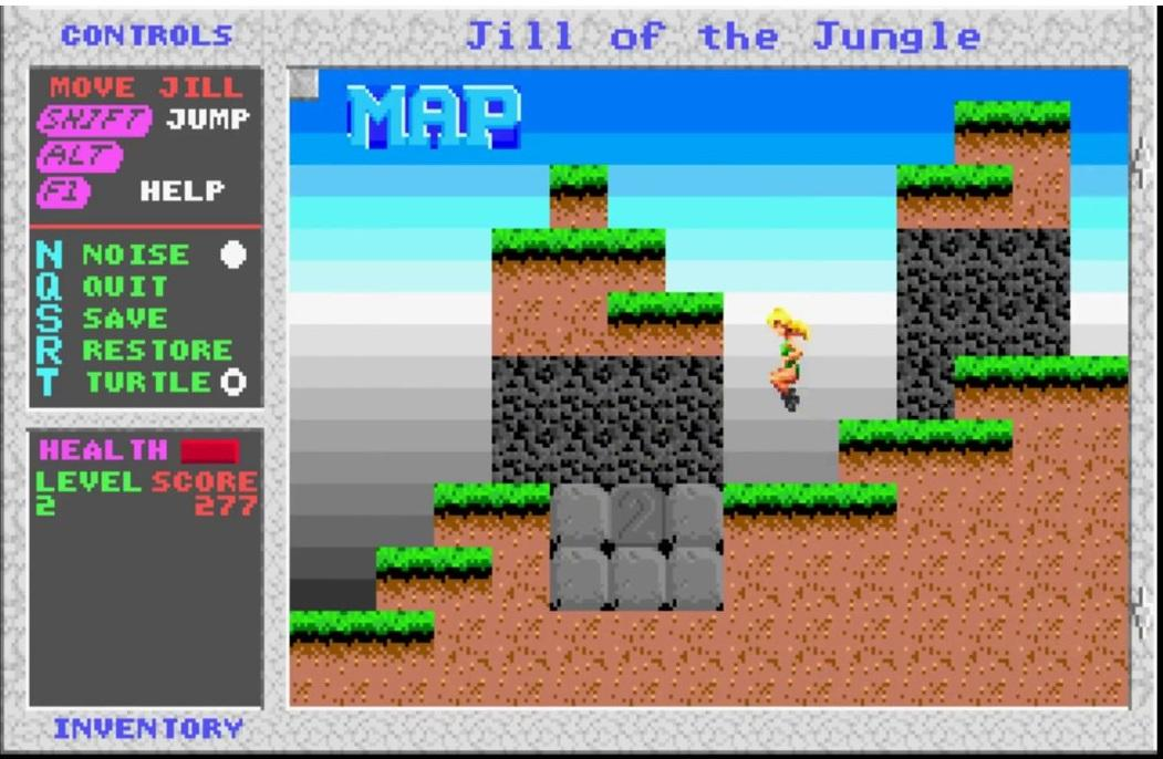 Jill on the jungle - juegos gratis MSDOS