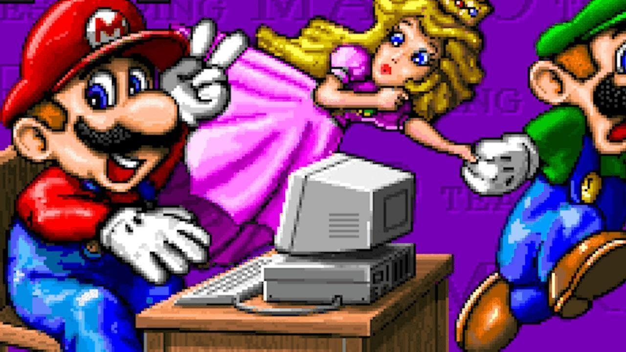 Mario Typing - Mario time's Machine - juegos gratis MS-DOS