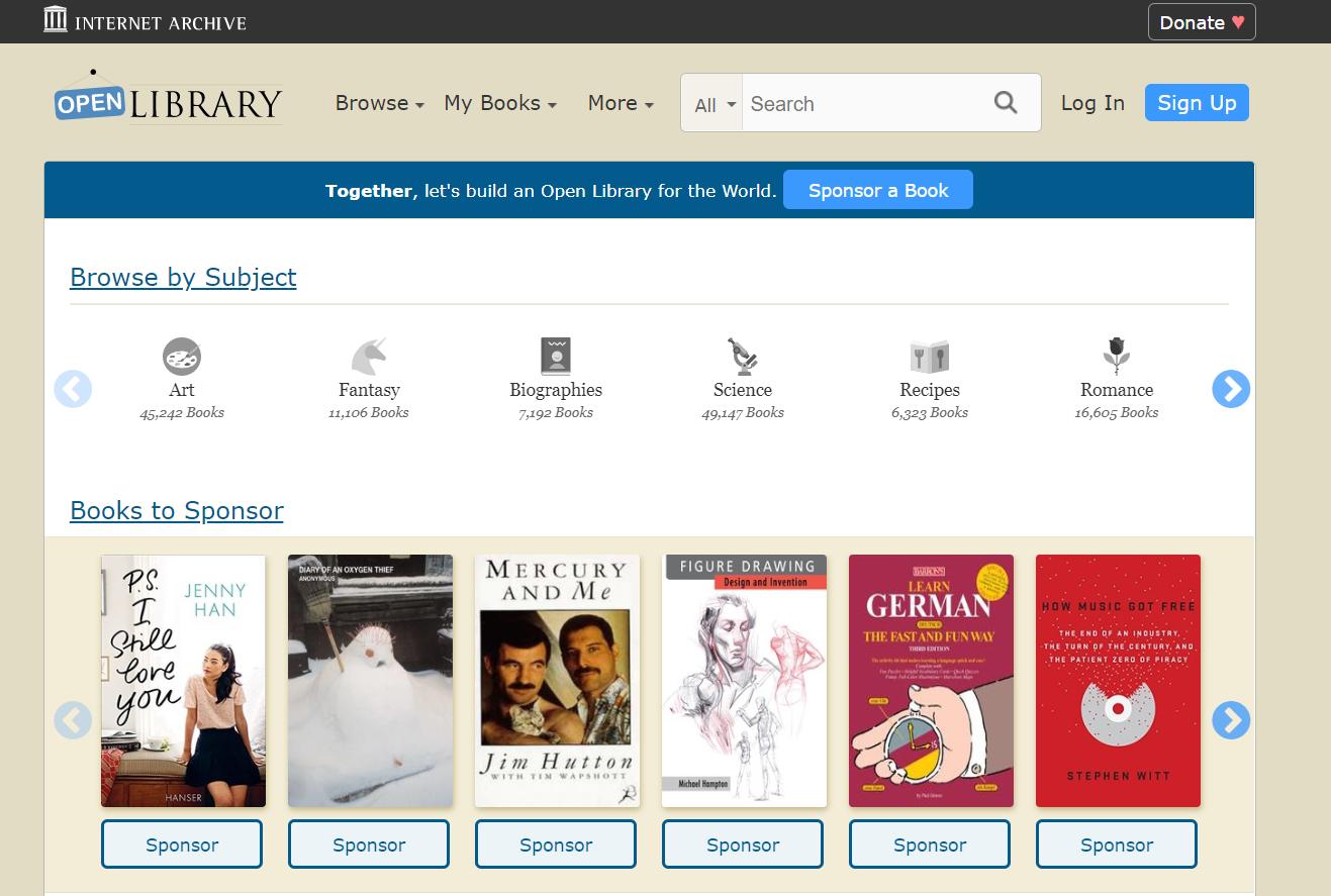 Open Library - libros de texto gratis