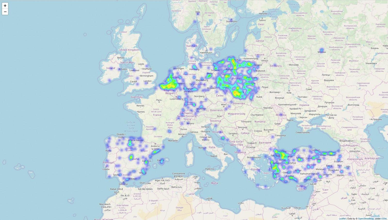 mapa gps