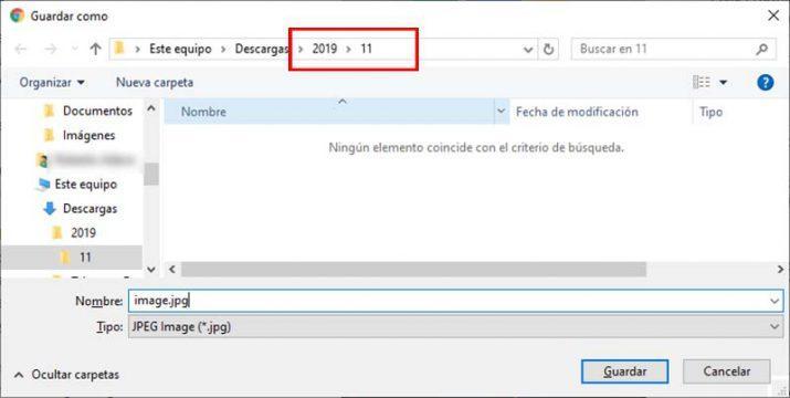 descargas de Chrome