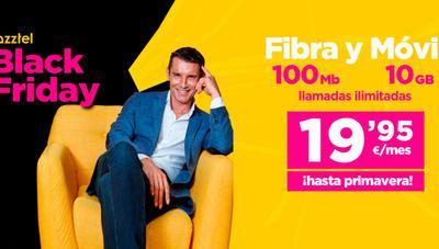 Jazztel rebaja su fibra y móvil por menos de 20 euros como oferta del Black Friday