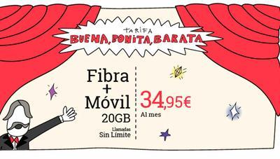 Lowi recupera su oferta de fibra y móvil por 34,95 euros de cara al Black Friday