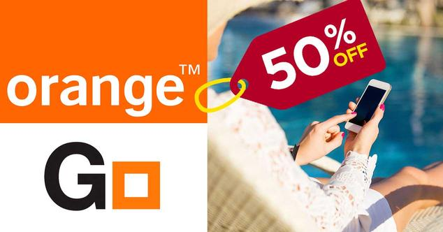orange go 50% descuento