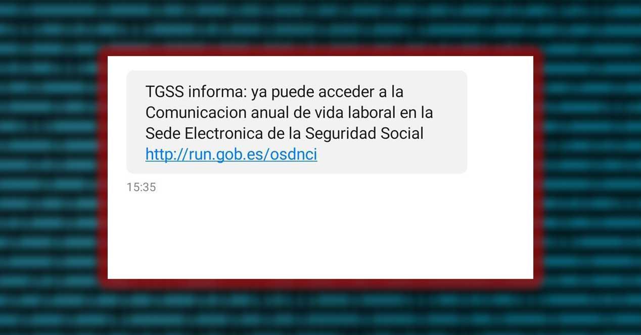 seguridad social sms