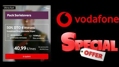 Esta oferta de Vodafone a mitad de precio sólo está disponible esta semana: fibra, móvil, TV, HBO y Amazon