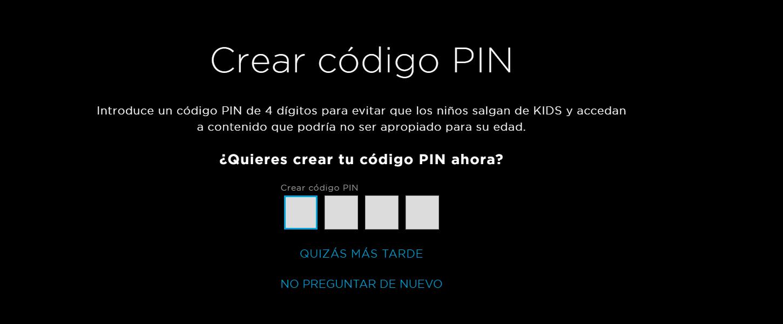 Crear código PIN en HBO